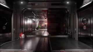 Sci-Fi Hallway Fly Through