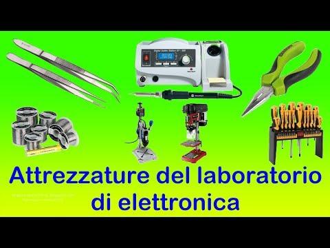 Attrezzature del laboratorio di elettronica