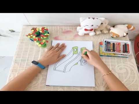 Tạo hình: Tô Màu cầu trượt - MG 3 tuổi