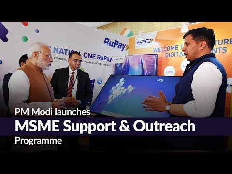 PM Modi launches MSME Support & Outreach Programme
