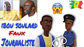 Ibou Soulard Faux Journaliste  Dessin Animé En Wolof Sénégal Animation Sn