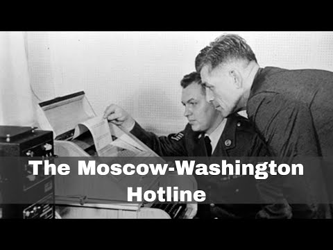 30th August 1963: Moscow-Washington hotline enters operation
