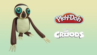 play doh Belt the sloth from The Croods - how to make with playdoh