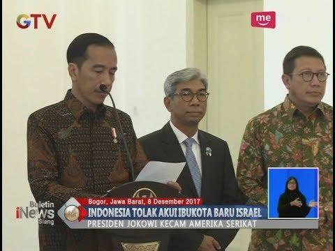 Presiden Jokowi Kecam Keras AS Terkait Yerusalem - BIS 08/12