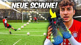 WER DIESE Fußball Challenge VERLIERT MUSS seine SCHUHE VERLOSEN!