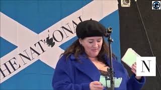 Suzanne McLaughlin WFI, The National #IndyRef2020 Rally, Glasgow, 02/11/2019