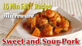 15 Min EASY Sweet and Sour Pork (咕噜肉 Microwave Subuta Perfect DORM Recipe) レンジで酢豚の作り方 – OCHIKERON
