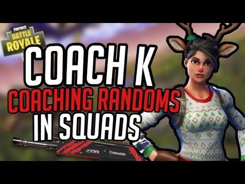 Coach K| FUNNIEST FORTNITE GAME EVER! TRYING TO COACH A RANDOM TO BECOME BETTER.