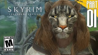 【SKYRIM 200+ MODS】Khajiit Gameplay Walkthrough Part 1 [PC - HD]