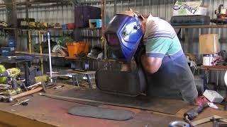 Steel Sailboat Building - Port Light Box Frames Part 2 Alternate Assembly Method
