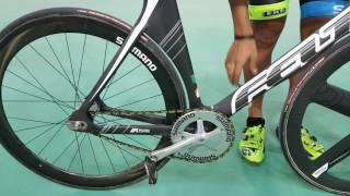 Gideoni Monteiro explica como é uma bicicleta para ciclismo de pista