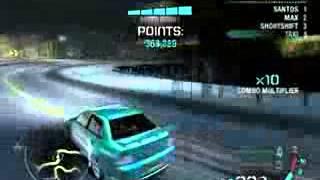 NFS Carbon - Super Drift Мировой рекорд