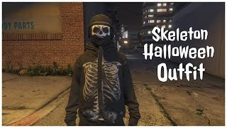 (GTA 5 Online) How To Create A Modded Looking Skeleton Halloween Outfit!!