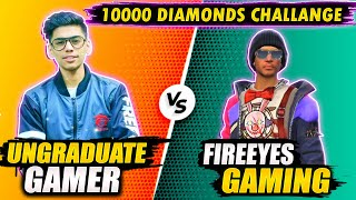 Ungraduate Gamer VS FireEyes Gaming - Garena Free Fire - 24kGoldn - Mood ❤️ ( FreeFire Highlights )