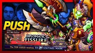 Knights and Dragons - DIPLOMATIC FISSURE TOP Guild War Push!! INSANE EARTH/EARTH Megaton Templar SF+