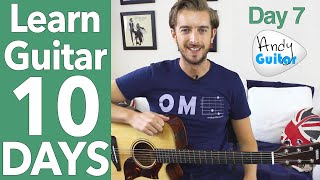 Guitar Lesson 7 - Play 10 Songs with 4 Chords - Free Guitar Lessons