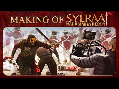 Megastar Chiranjeevi Bollywnood Star Amitabh Bachchan Sye Raa Narasimha Reddy Making video