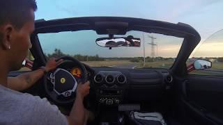 Driving the Ferrari F430 Spider Vs. the Lamborghini Gallardo Spyder