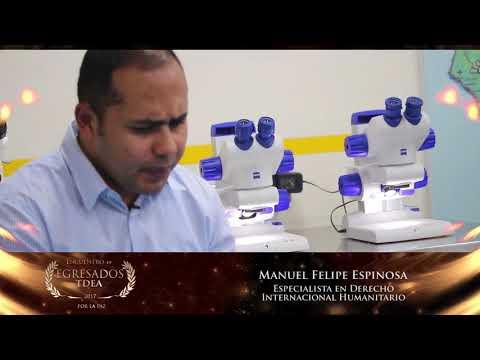 Reconocimiento Egresados TdeA: Manuel Felipe Espinosa