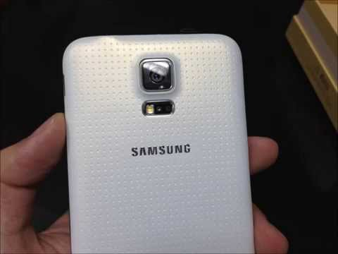 Samsung GALAXY S5 DUOS SM-G900FD shimmery white color