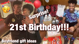 SURPRISING MY BOYFRIEND FOR HIS 21ST BIRTHDAY | QUARANTINE EDITION | GIFT IDEAS 🎁 ONYX & MAATI