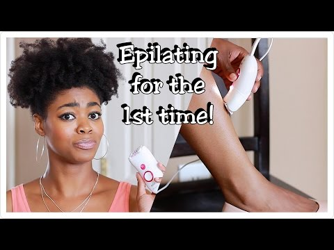 Trying An Epilator For The 1st Time! OMG! - 1st Impressions- Braun Silk Epil 5 - 4C Hair