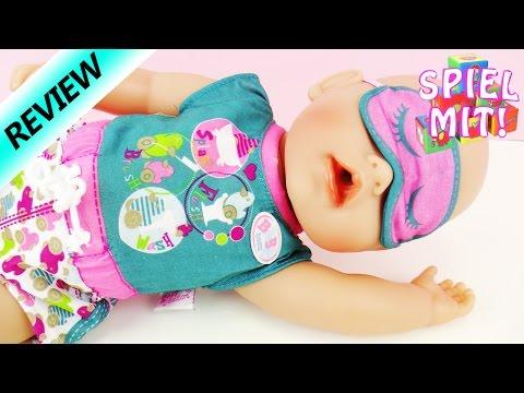 Baby Born kurzer Pyjama mit Entchen | sommerlicher Schlafanzug mit Schlafbrille und Crocs | Review
