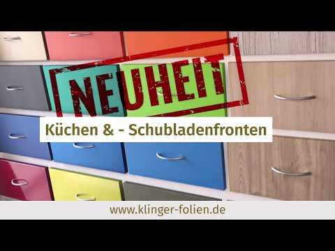 Küchenfronten mit Möbelfolie bekleben