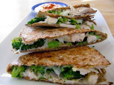Video Clean Eating Broccoli & Chicken Quesadilla Recipe