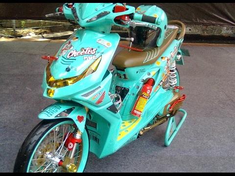 Video Cah Gagah | Video Modifikasi Motor Honda Beat Airbrush Warna Hijau Keren Terbaru