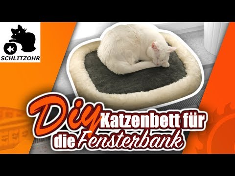 🔥Katzenbett selber machen | Diy Katzenbett für die Fensterbank | Katzenbett selber bauen