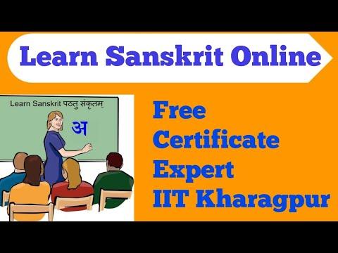 Learn Sanskrit Online for Free with certificate   NPTEL Online free course on Sanskrit Language