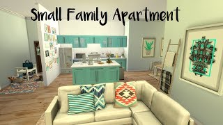 The Sims 4 | Small Family Apartment - CC Speed Build