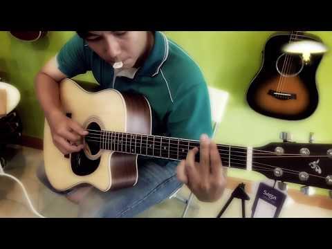 Đàn Guitar Acoustic Saga SF700C