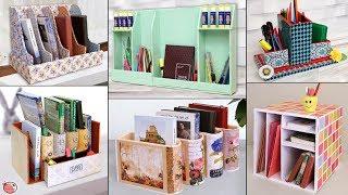 13 Home Book Stand DIY Ideas !!! Handmade Cardboard Organization