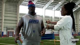 Giants Damon Snacks Harrison milly rocks, says Drake's music speaks to him and more