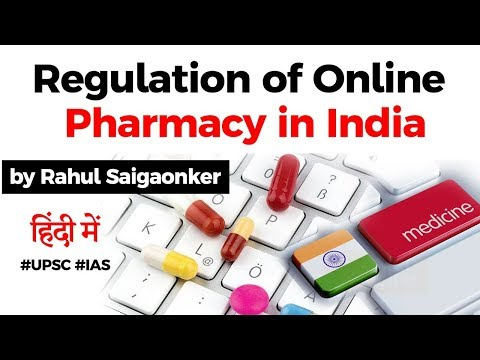 Online Pharmacy in India - Benefits and Regulation of Online Pharmacy explained #UPSC #IAS