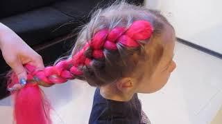 Французские косы с канеколоном  Тренд 2017 Модные косы с канеколоном. Цветные косы