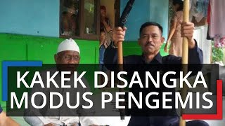 Terungkap Fakta, Viral Kakek Duduk di Jalanan Sentul Bogor, Bawa Tongkat Penuh Paku Disangka Modus