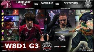 Unicorns of Love vs G2 eSports | Week 8 Day 1 S8 EU LCS Summer 2018 | UOL vs G2 W8D1