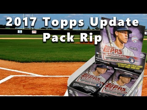 Ripping a Jumbo Pack of 2017 Topps Update Series Baseball