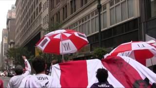 Previa en la 33rd Street - Filial River Plate New York - Hinchada en NYC
