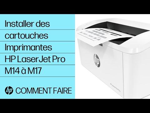 Installer des cartouches dans les imprimantes HP LaserJet Pro M14 à M17