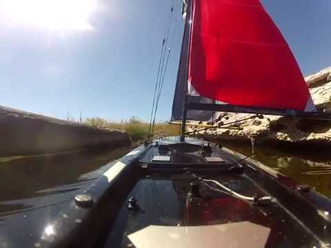 Monsoon RC Sailboat with custom made storm sails