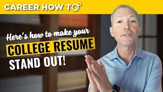 This One Trick Will Make Your College Resume Stand Out