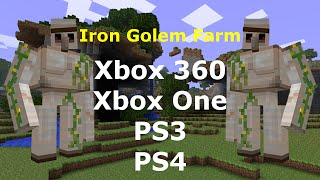 how to make a iron golem farm in minecraft xbox 360 edition