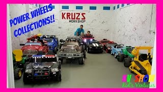 Power Wheels Collections! Firetruck, Bulldozer, Police Car, Ford Truck, Corvette! Fun For The Kids!