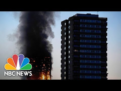 London Apartment Building Burns In Massive Fire | NBC News