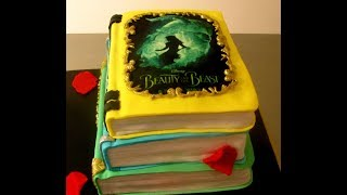 Beauty And The Beast / Fairy Tales Book Cake