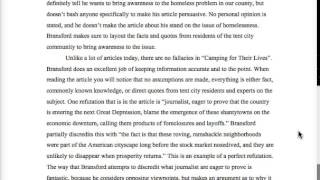Example of an Effective Critical Analysis Essay